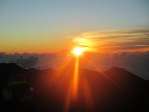 Sunrise view from the Haleakalā summit