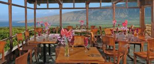 Breakfast with a view at the Kula Lodge!